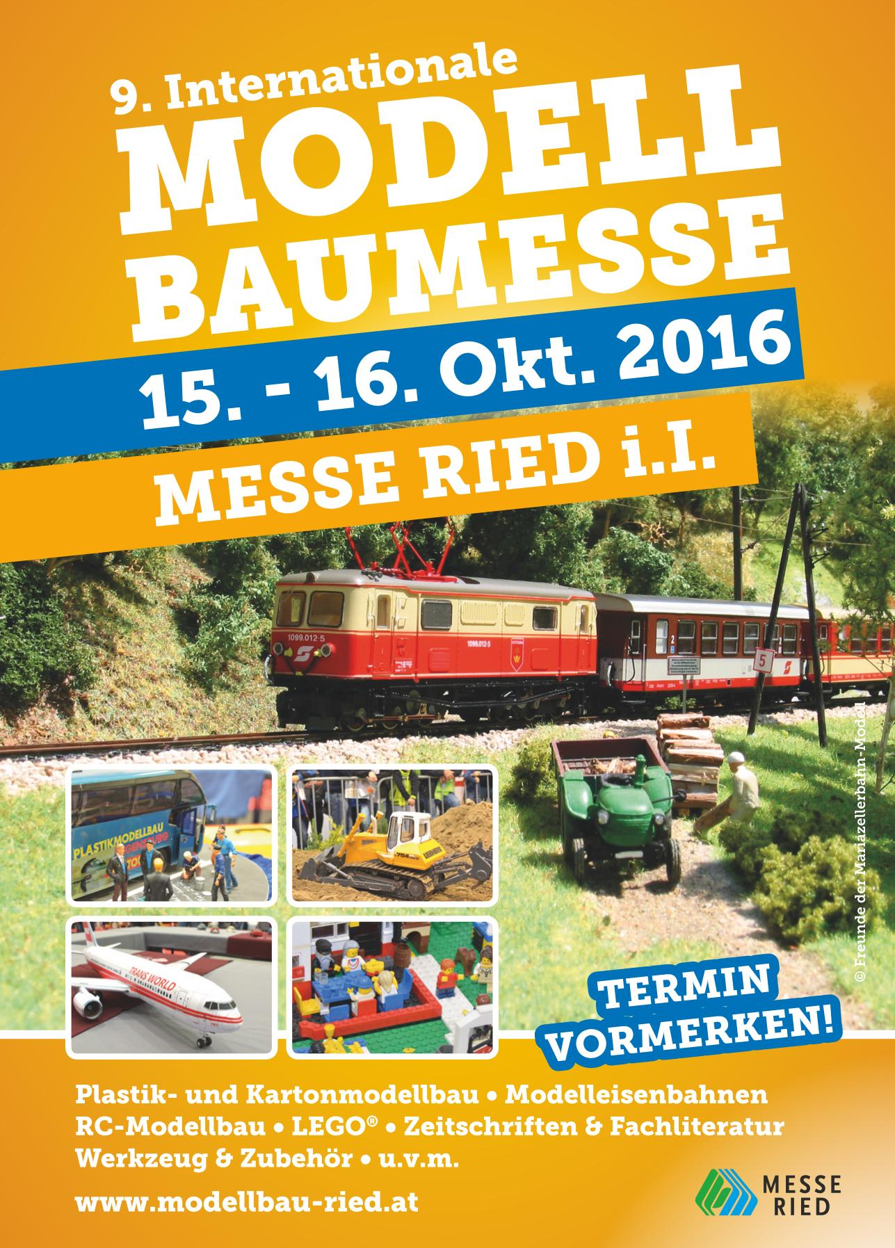 Flyer Modellbaumesse Ried 2016